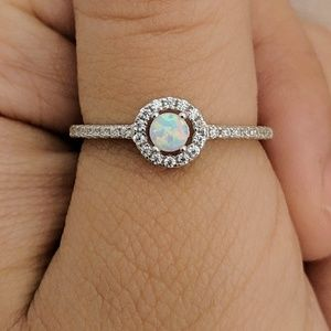 Jewelry - Sterling Silver Opal Ring